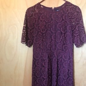 Madewell Floral lace shift dress